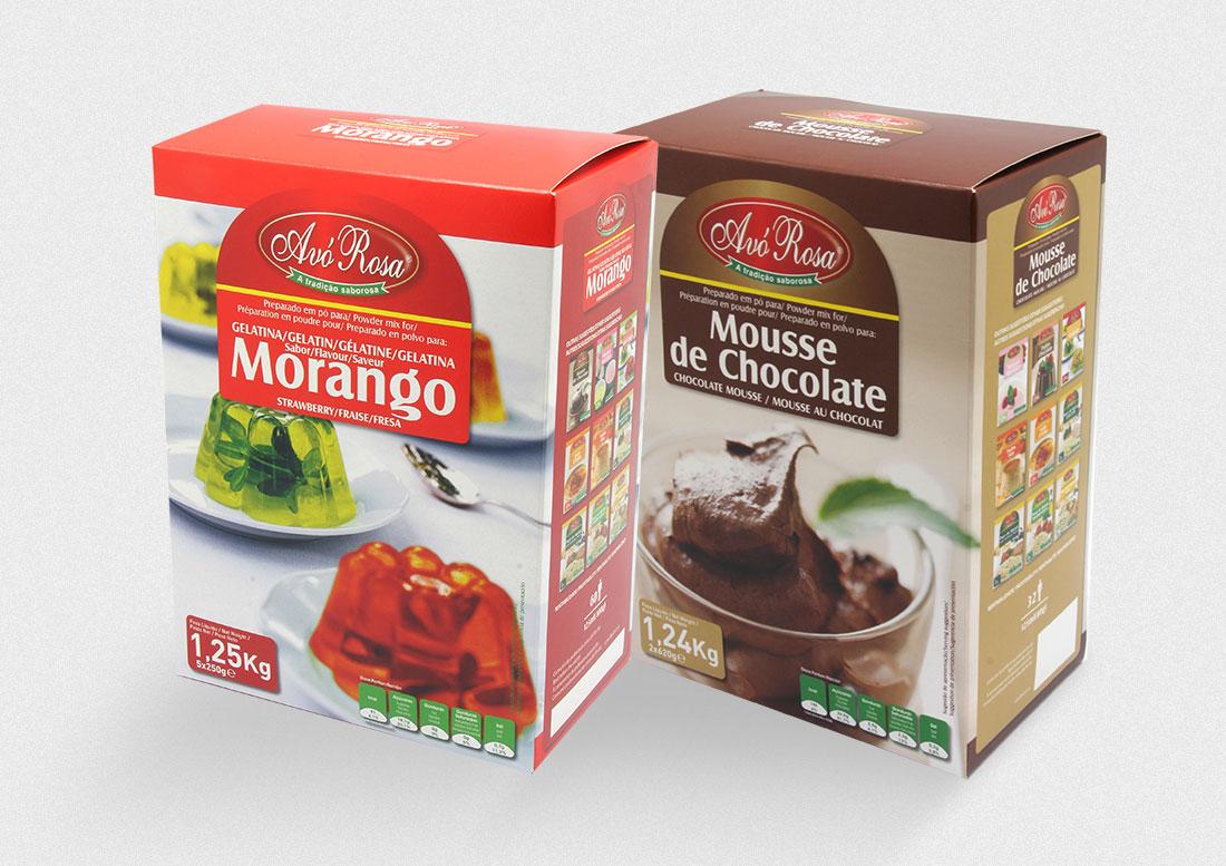 Gelatina Morango e Mousse Chocolate Avó Rosa